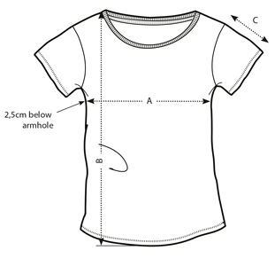 Women's fit shirt drawing